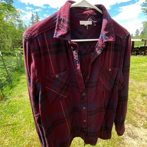 La hearts flannel